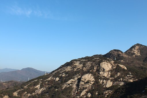 Mountain, Bukhansan Mountain, Blue Sky
