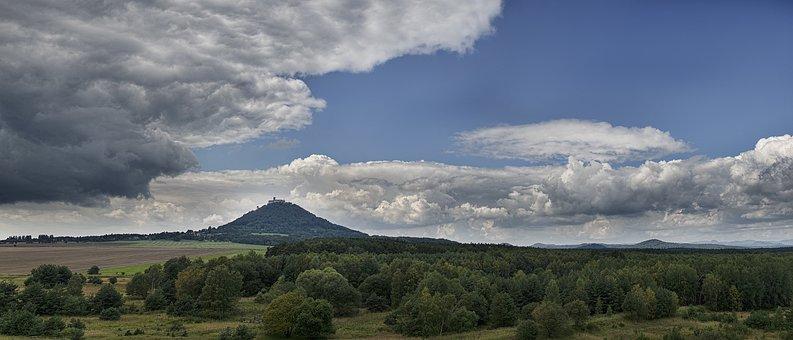 Bezděz, Landscape, Bohemia, Hill, Clouds, Dramatic