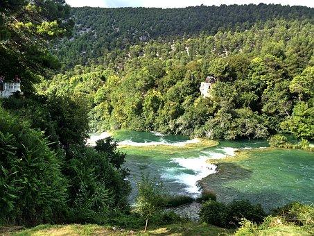 Croatia, Waterfall, Water, National Park