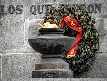Memorial, Monument To The Fallen, Fire, Crown, Military