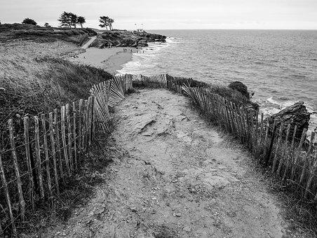 Pornic, Sea, Brittany, Beach, Side, Customs Path, Wind