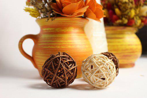 Decoration, Dried Grasses, Flowers, Dried