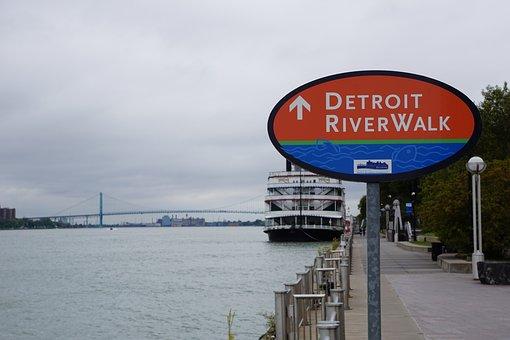Detroit River Walk, Riverside, Detroit Princess, River