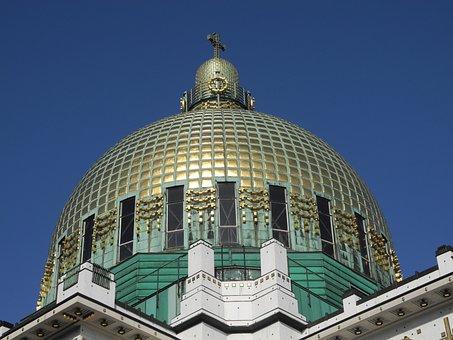 Dome, Golden, Golden Dome, Art Nouveau, Otto Wagner