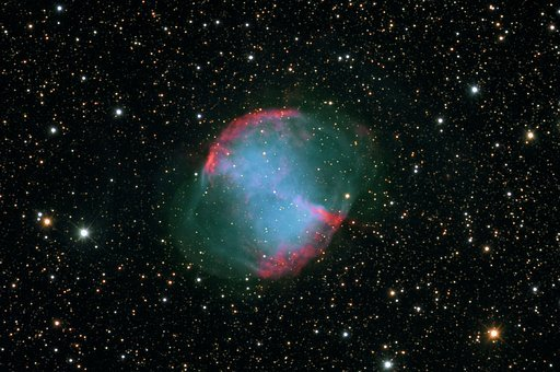 M27, Messi, The Night Sky, Dumbbell Nebula