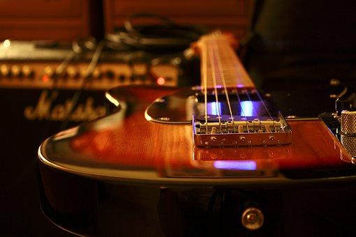 Guitar, Amplifier, Marshall, Rock, Musical, Equipment