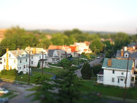 Houses, Terraced Houses, Residential Area, Usa