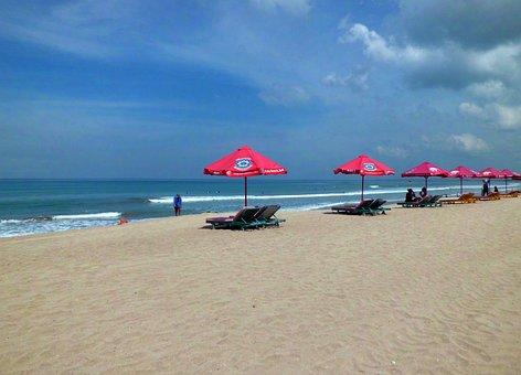 Pantai Kuta, Kuta, Bali, Indonesia, Beach, Sand, Sea