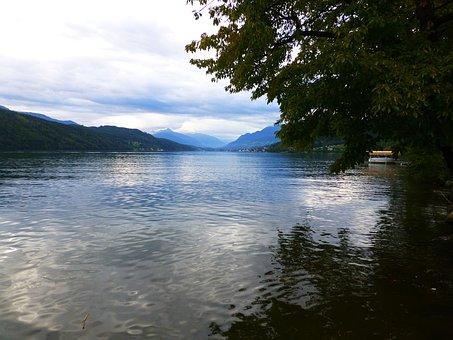 Millstatt, Lake, Evening, Abendstimmung, Water, Quiet