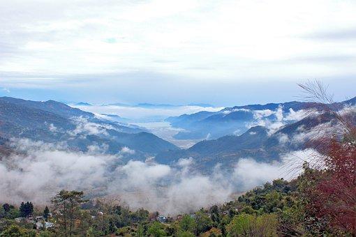 Landscape, Natural, Nature, Nepal, Pokhara, Lake, Fog