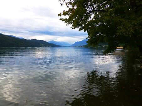 Millstatt, Lake, Evening, Abendstimmung, Water, Quiet