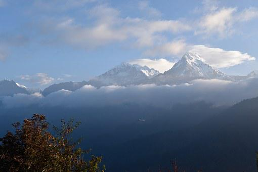 Nepal, Annapurna, Mountains, Nature, Landscape, Clouds