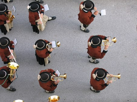 Music Band, Band Uttendorf, Top View, Onslaught