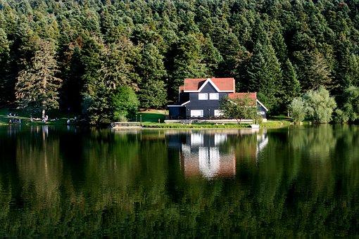 Lake, Bolu, Nature, Lake House, Pond, Turkey