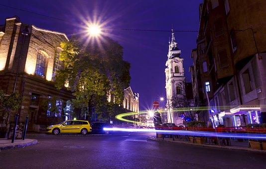 Budapest By Night, City Light, Night, Hungary, Budapest
