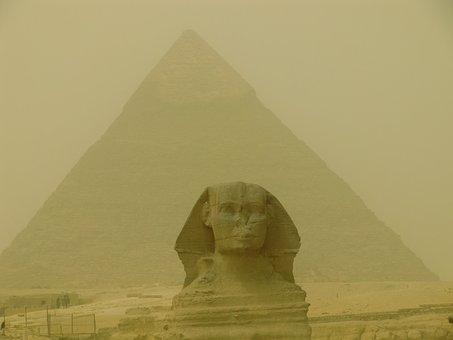 Pyramid, Egypt, Shinx