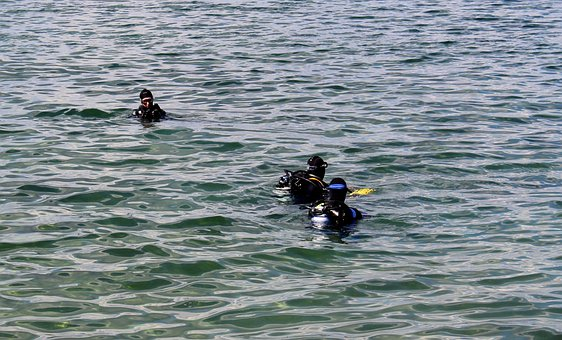 Divers, Diver Group, Testing, Descend Before, Lake