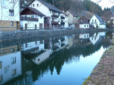 Steinwiesen, Germany, Town, Village, River, Water