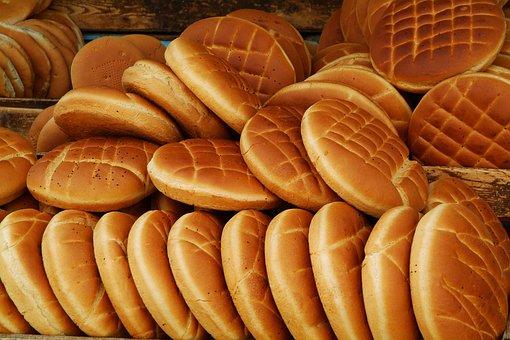 Bread, Arabic Bread, Market, Tunisia