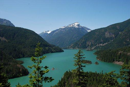 America, Washington State, Landscape, Nature, Water