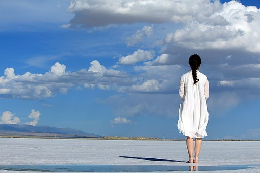Girls, Blue Sky, White, Return, White Skirt