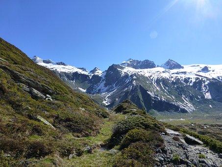 Zemmgrund, Zillertaler Alpen, Black Lake, Alpine