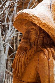 Art, Carved, Face, Figurine, Handmade, Hat, Man