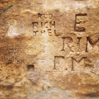 Rock, Engraving, Stone, Engraved, Ancient, Letters
