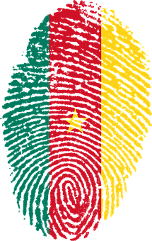 Cameroon, Flag, Fingerprint, Country, Pride, Identity