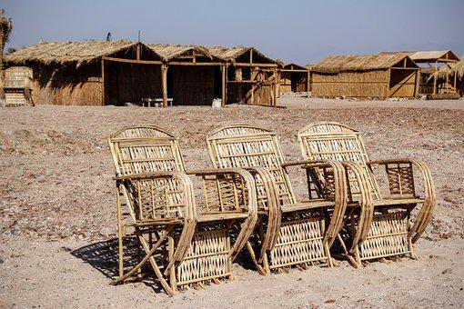 Wicker Furniture, Hand Labor, Seat, Chair, Beach