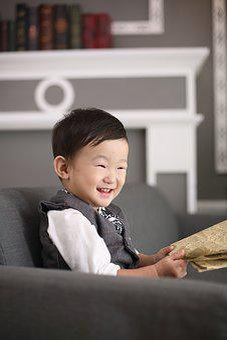 Boy, Kids, Laugh, Happy, Life, Asia, Smile, Read, Sat
