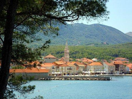 Nature, Town, Sea, Tree, Harbour, Jelsa, Hvar, Croatia