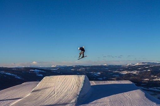 Skiing, Freestyle, Jump, Sport, Winter, Jibbing, Snow