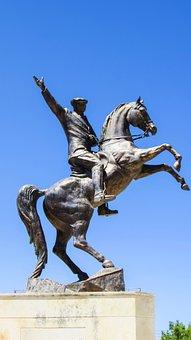 Cyprus, Karpasia, Rizokarpaso, Statue, Monument