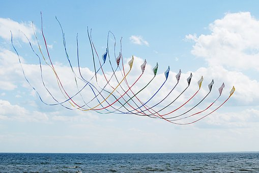 Kites, Sky, Summer, Flying, Colorful, Activity