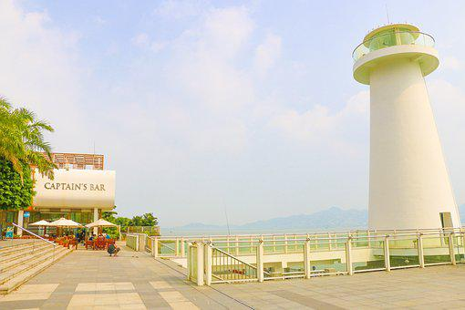Shenzhen, Shenzhen Bay, Sea, Bar, Lighthouse