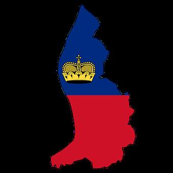Liechtenstein, Map, Land, Borders, Flag