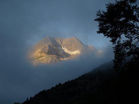 Dawn, Cloud, Mountain, Pyrenees, Gavarnie, Landscape