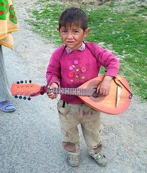 Boy, Musician, Gypsies, Transcarpathia, Children