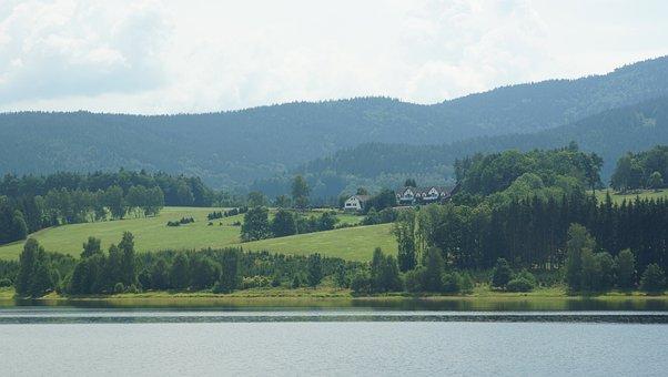 Nýrsko Dam, Dam, Water, Landscape, Czech Republic