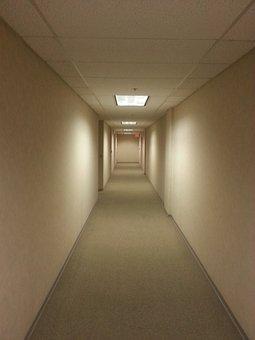 Hallway, Empty, Office, Quiet, Building, Corridor
