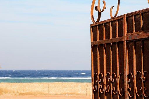 Goal, Sea, View, Open, Beach, Wave, Ocean, Ornament