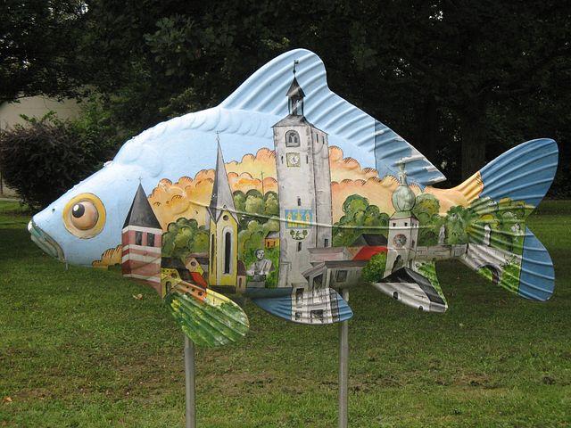 Tirschenreuth, Decoration, Giant Fish, Painted