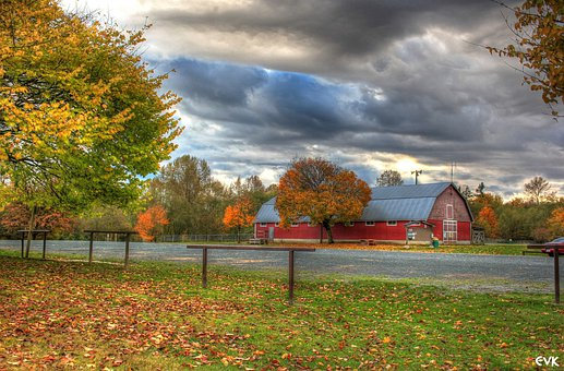 Park, Campbell, Valley, Entrance, Tourism, Barn, Road