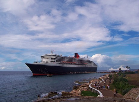 Queen Mary Ship, Cruise, Boat, Sea, Travel, Tourism