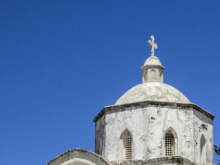 Cyprus, Karpasia, Rizokarpaso, Church, Orthodox, Dome