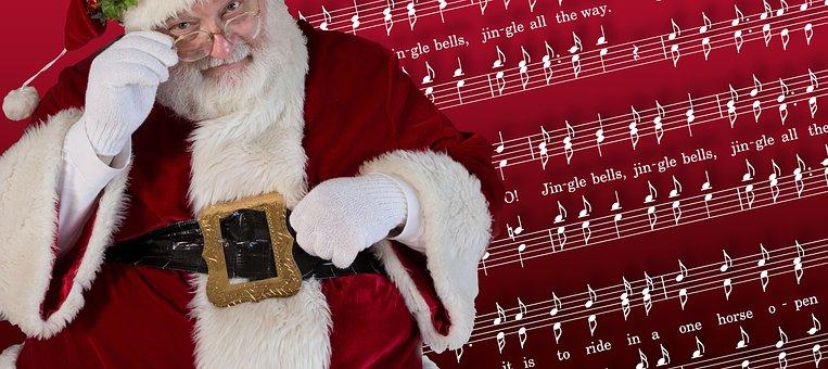 Santa, Christmas, Claus, Jingle Bells, Song