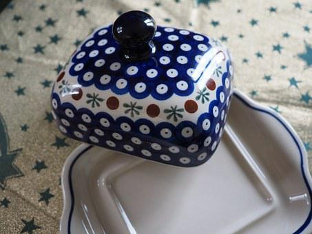 Box, Butter Dish, Porcelain, Cover, Service, Tableware