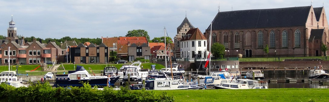 Vollenhove, Town, Netherlands, Port, Harbor, Boats