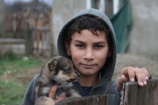 Gypsies, Children, Transcarpathia, Boy